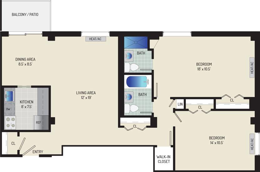 Iverson Towers & Anton House Apartments - Apartment 434301-0507-O1