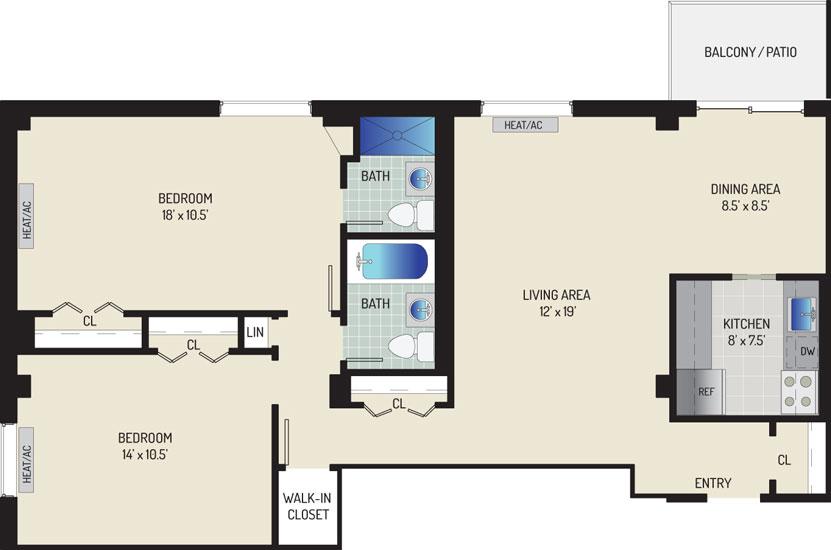 Iverson Towers & Anton House Apartments - Apartment 434301-1008-O2