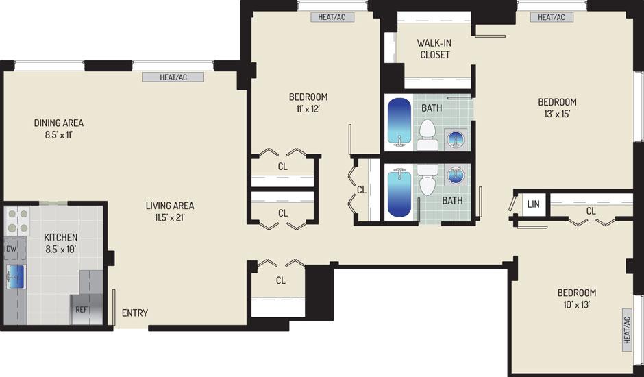Iverson Towers & Anton House Apartments - Apartment 434311-0612-P