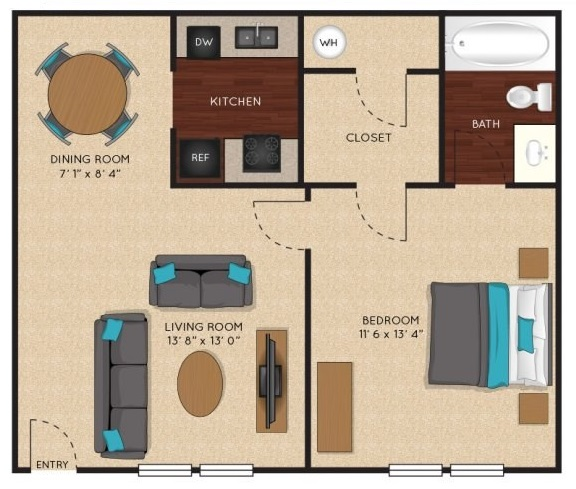 Jefferson on the Lake - Floorplan - Senna