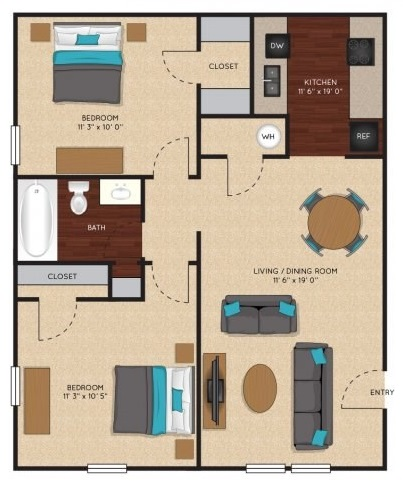 Jefferson on the Lake - Floorplan - Willow
