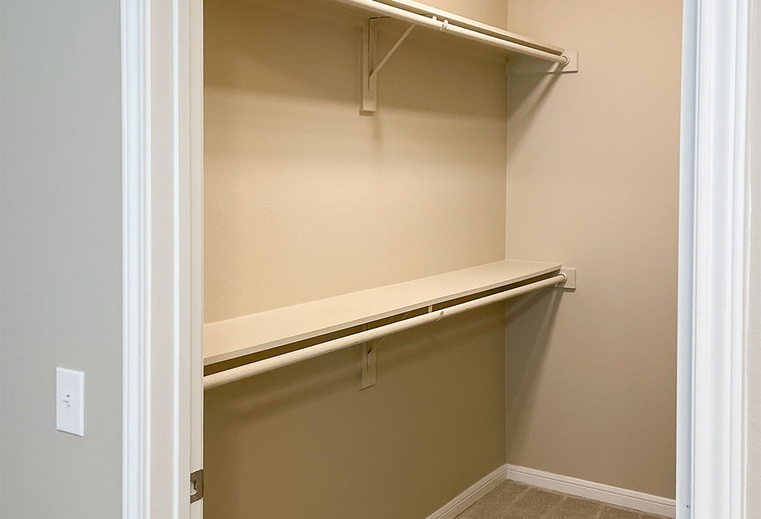 Walk-In Closets at Jubliee at Texas Parkway Apartments in Missouri City, Texas