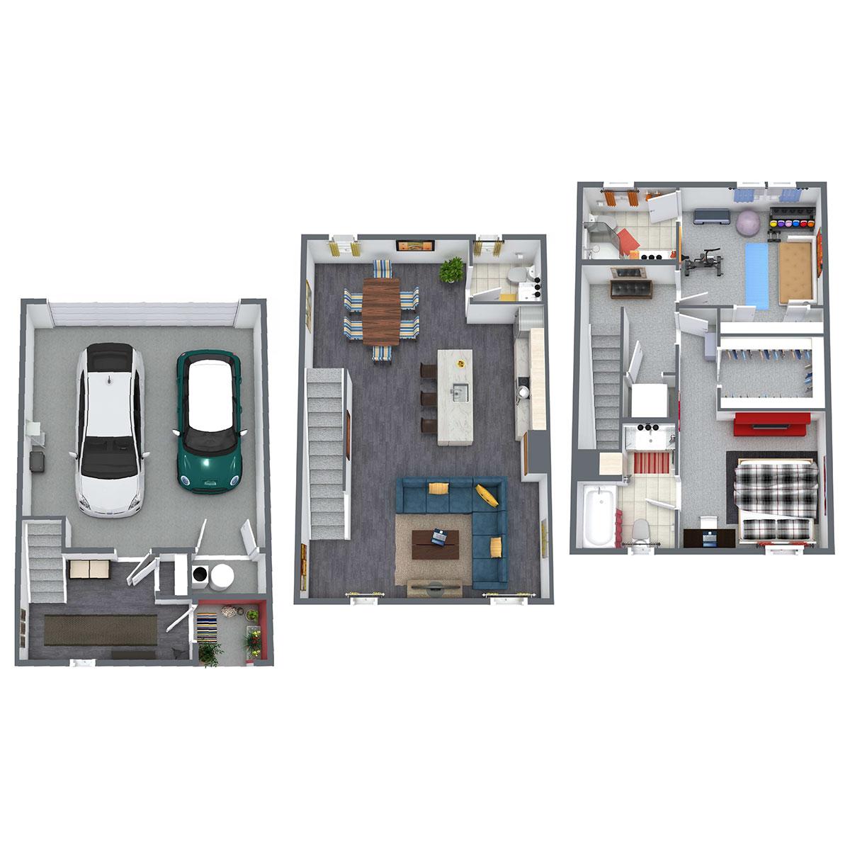 Floorplan - Sycamore - 2 Bedroom image
