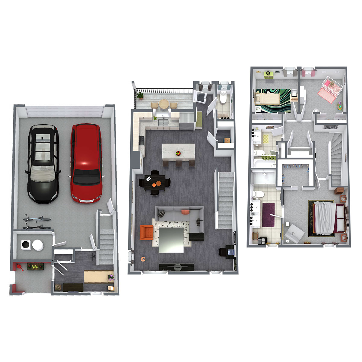 Juniper Rows at Olde Towne - Floorplan - Juniper - 3 Bedroom