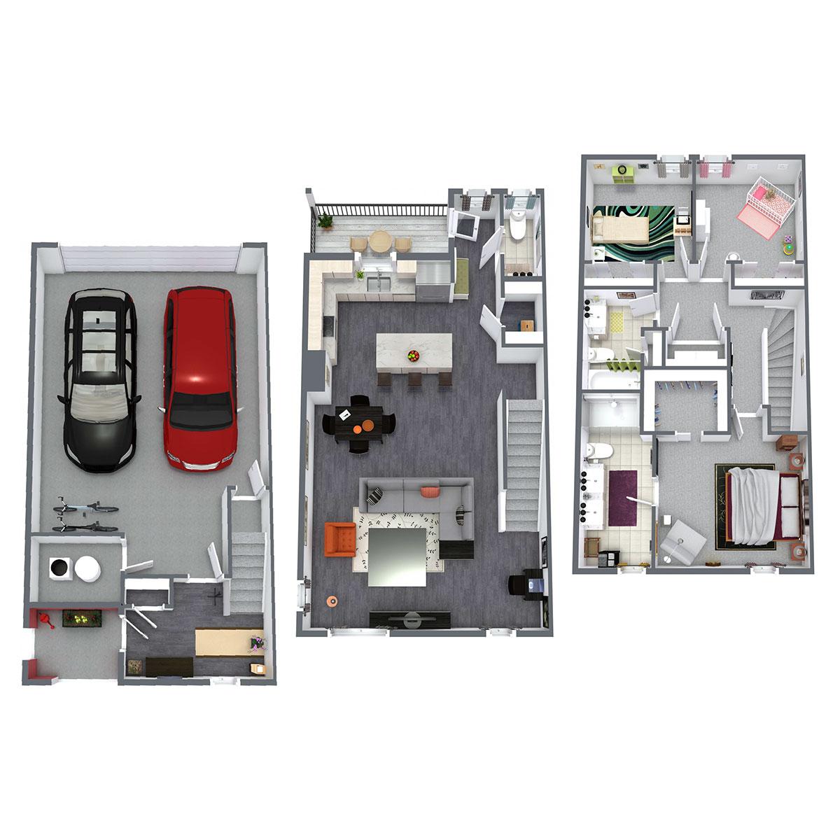 Floorplan - Juniper - 3 Bedroom image