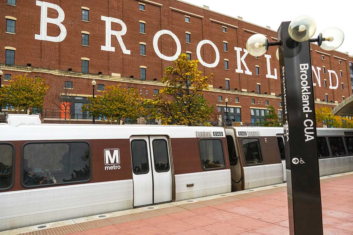 Brookland- CUA Metro is 7 minutes from Kaywood Gardens Apartments in Mount Rainier, MD