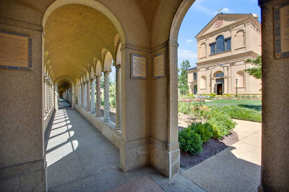 5 minutes to Franciscan Monastery of the Holy Land in America