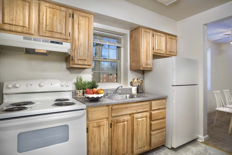 Spacious kitchen at Kaywood Gardens Apartments in Mount Rainier, MD