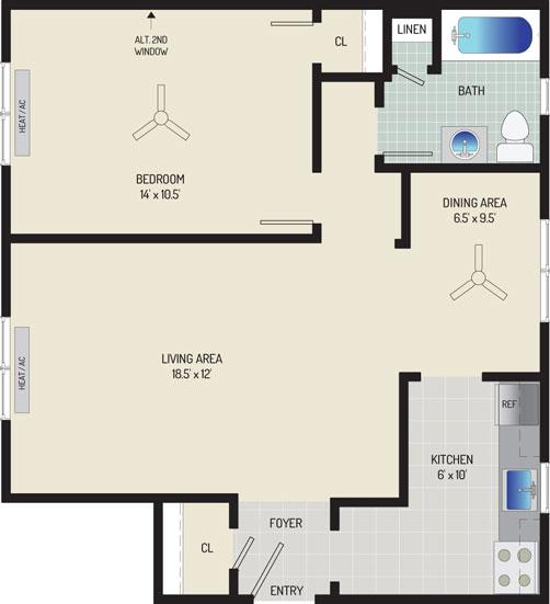 Kaywood Gardens Apartments - Apartment 084206-1-Z1