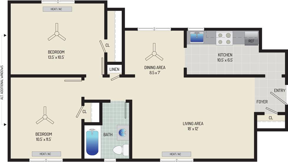 Kaywood Gardens Apartments - Apartment 08R202-5-ZO2