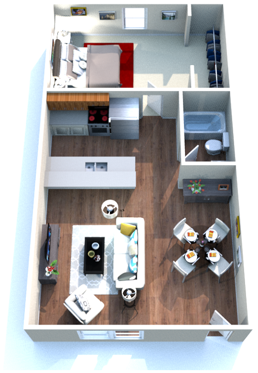 Kenilworth Ridge Apartments - Floorplan - 1 Bedroom