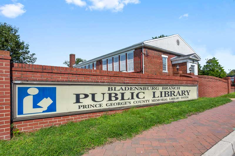 Walking distance to Bladensburg Branch library in Bladensburg, MD