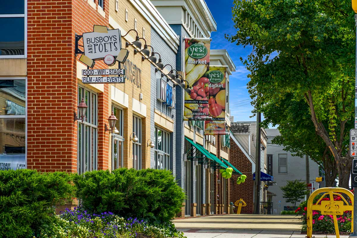 Busboys and Poets is 5 minutes from Kenilworth Towers Apartments in Bladensburg, MD