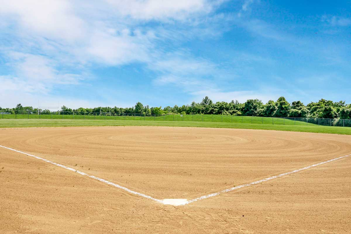 Baseball diamond is 8 minutes from Kenilworth Towers Apartments in Bladensburg, MD