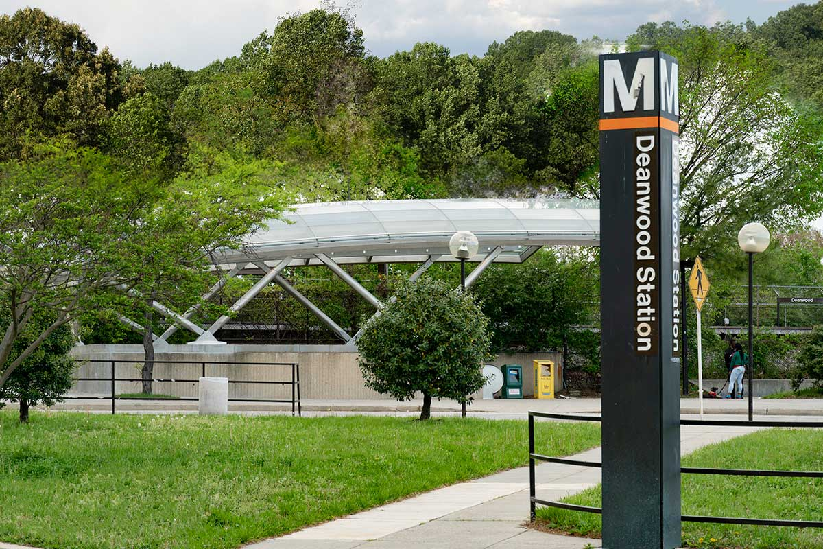 Deanwood Metro station is 5 minutes from Kenilworth Towers Apartments in Bladensburg, MD