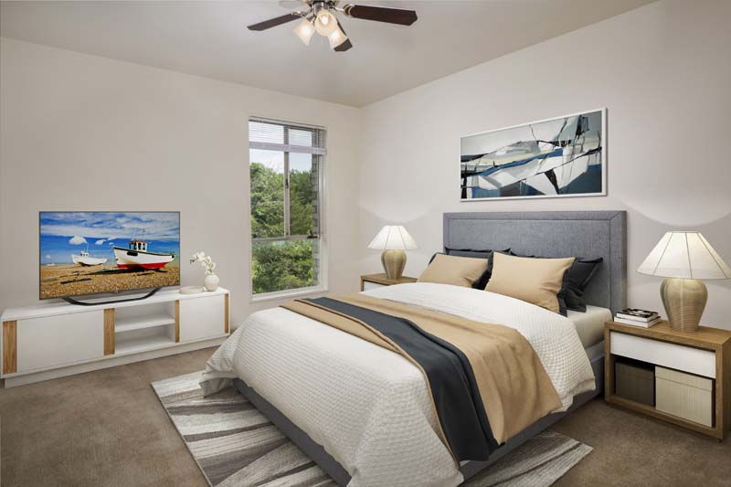 Private bedroom at Kenilworth Towers Apartments in Bladensburg, MD