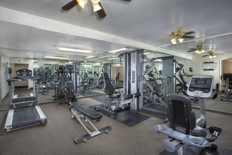 Fitness center at Kenilworth Towers Apartments in Bladensburg, MD