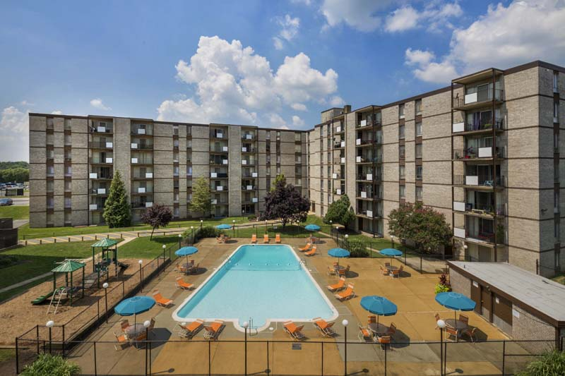 Studio, 1, 2, and 3-bedroom apartments at Kenilworth Towers in Bladensburg, MD