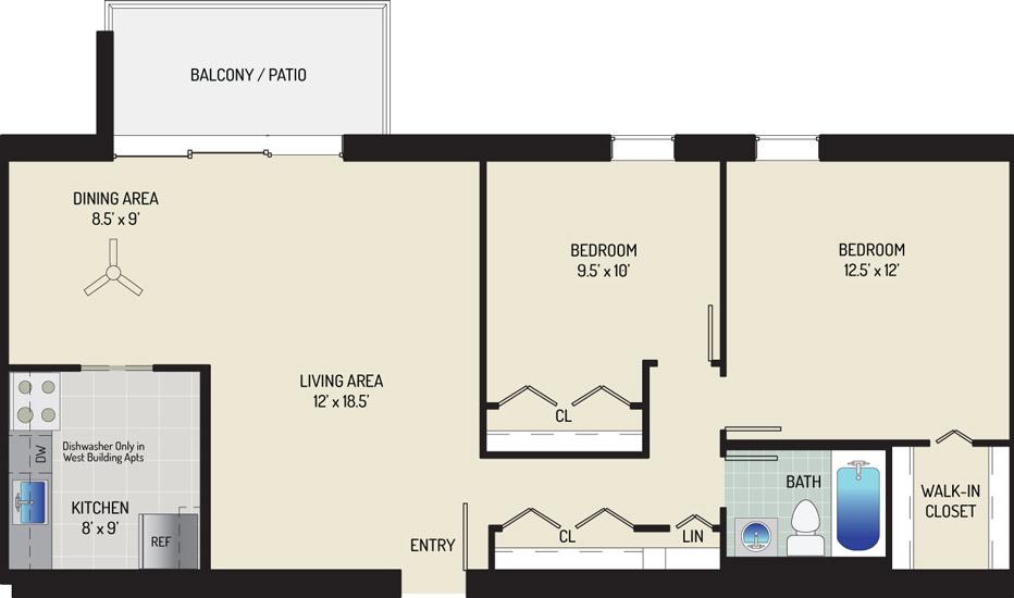 Kenilworth Towers Apartments - Apartment 12E801-109E-I1