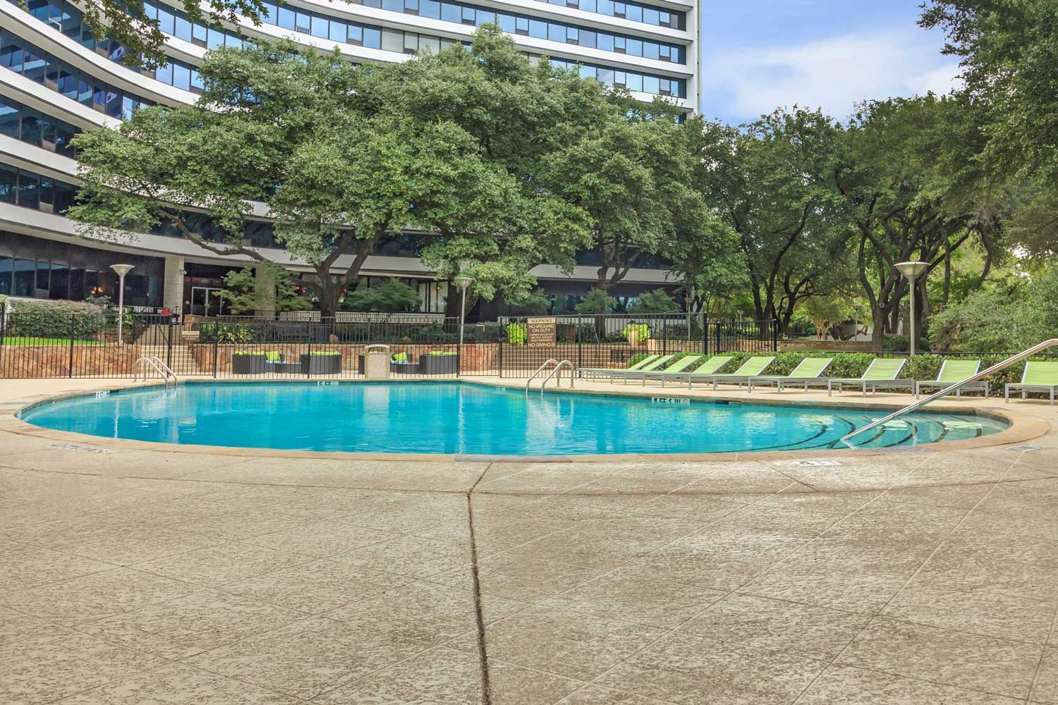 Pool with Sun Deck at View at Kessler Park Apartments in Dallas, TX