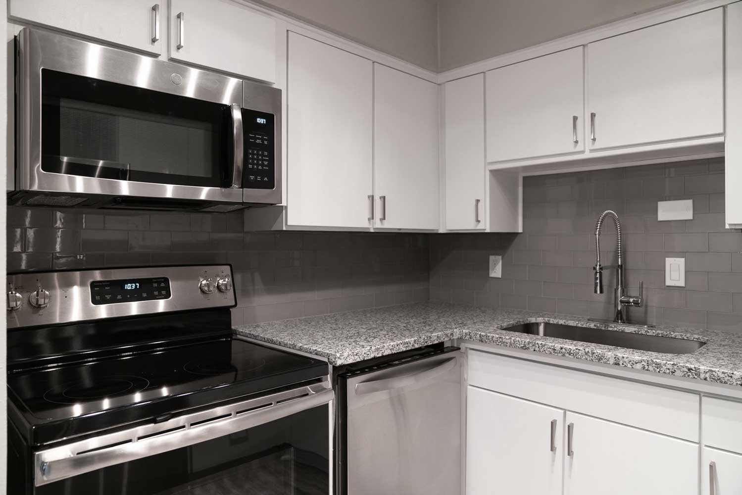 Ample Kitchen Storage at View at Kessler Park Apartments in Dallas, TX