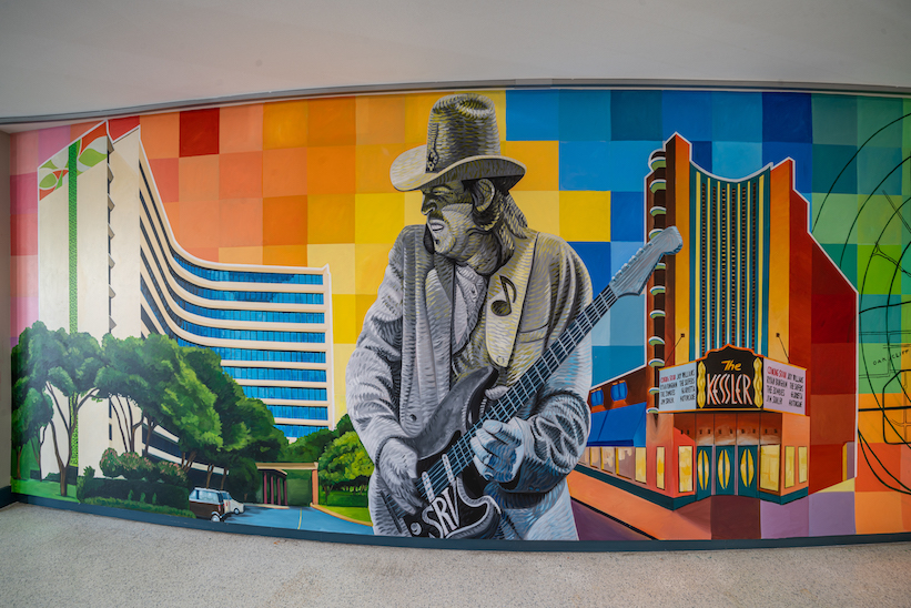 Wall Murals at Skyline at Kessler Park Apartments in Dallas, TX