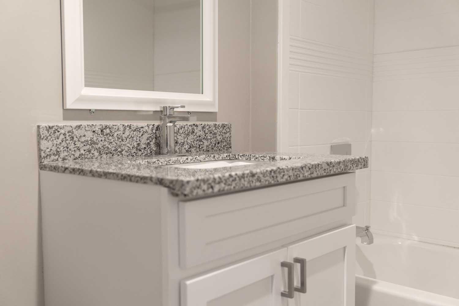 Granite Countertops in Select Homes at View at Kessler Park Apartments in Dallas, TX