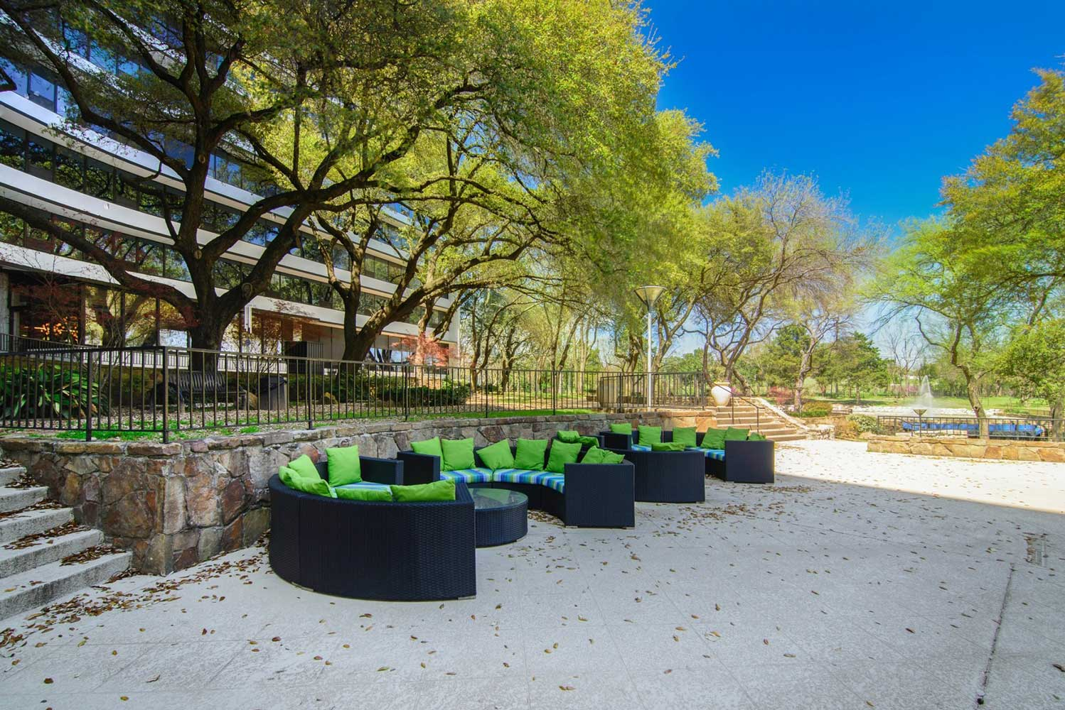 Outdoor Lounge Areas at View at Kessler Park Apartments in Dallas, TX