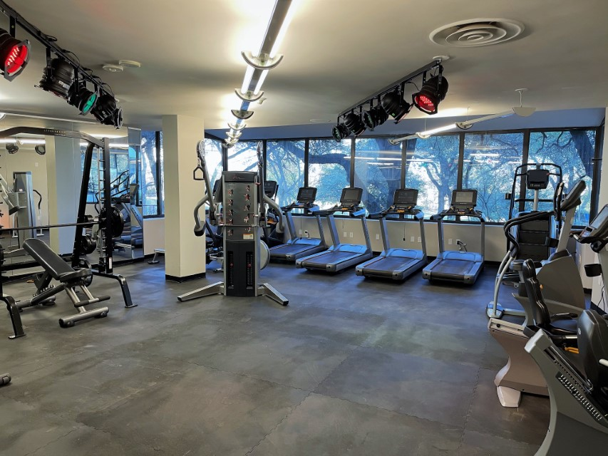 Recently Updated Fitness Center at View at Kessler Park Apartments in Dallas, TX