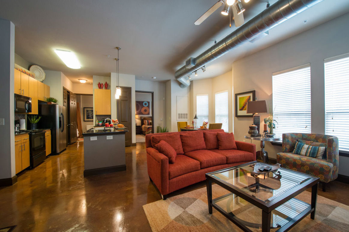 Island Kitchen at King's Cove Apartments in Kingwood, Texas
