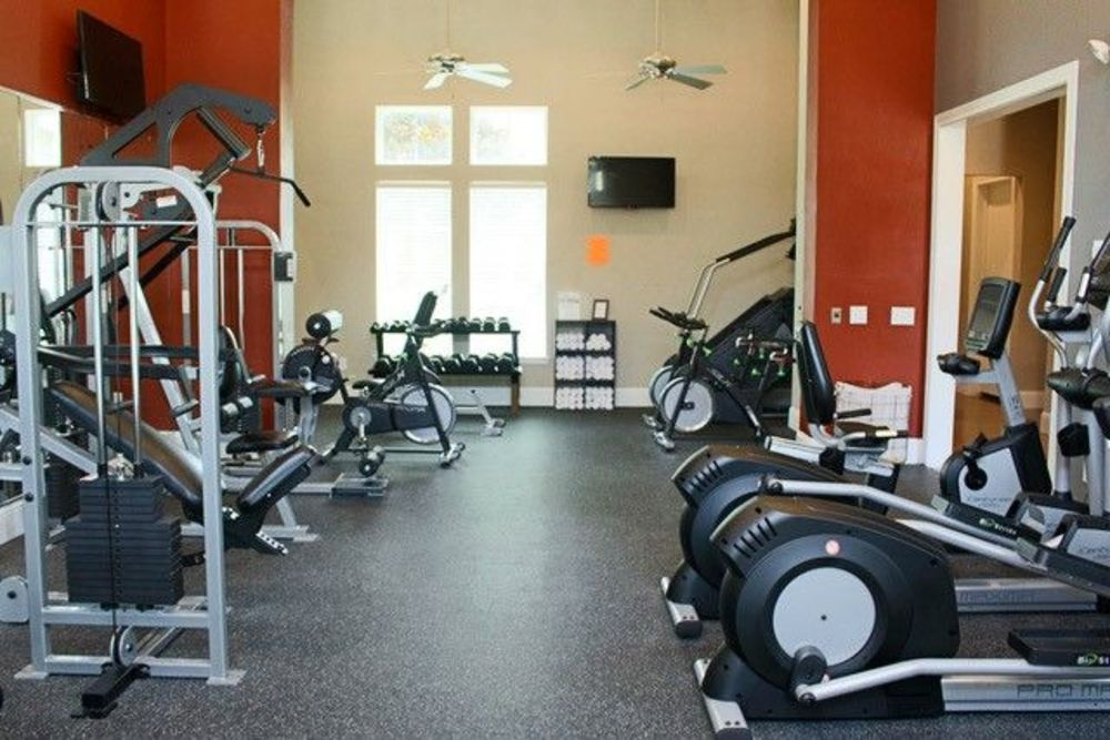 Fitness Center at King's Cove Apartments in Kingwood, Texas
