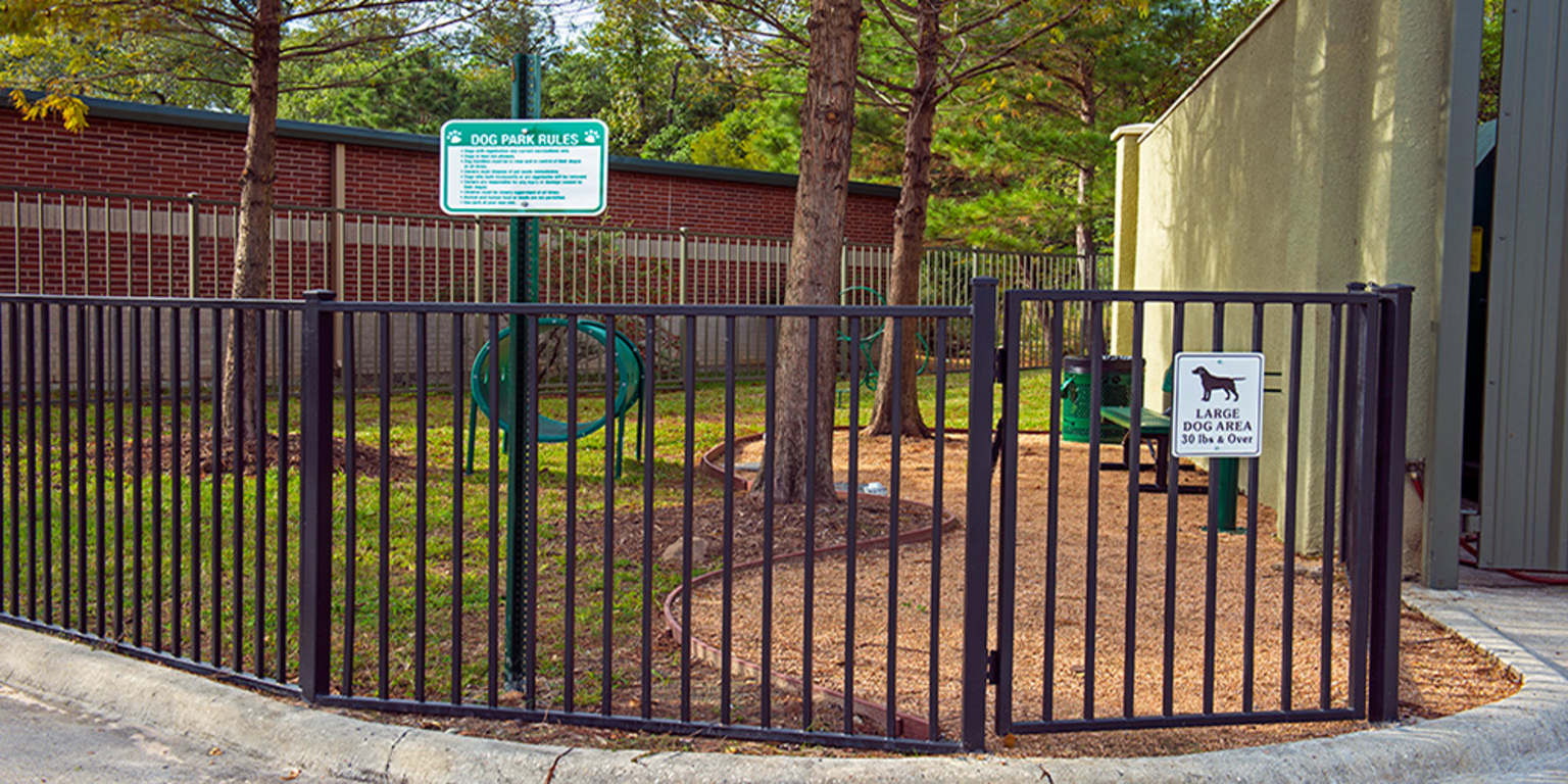 Dog Park at King's Cove Apartments in Kingwood, Texas