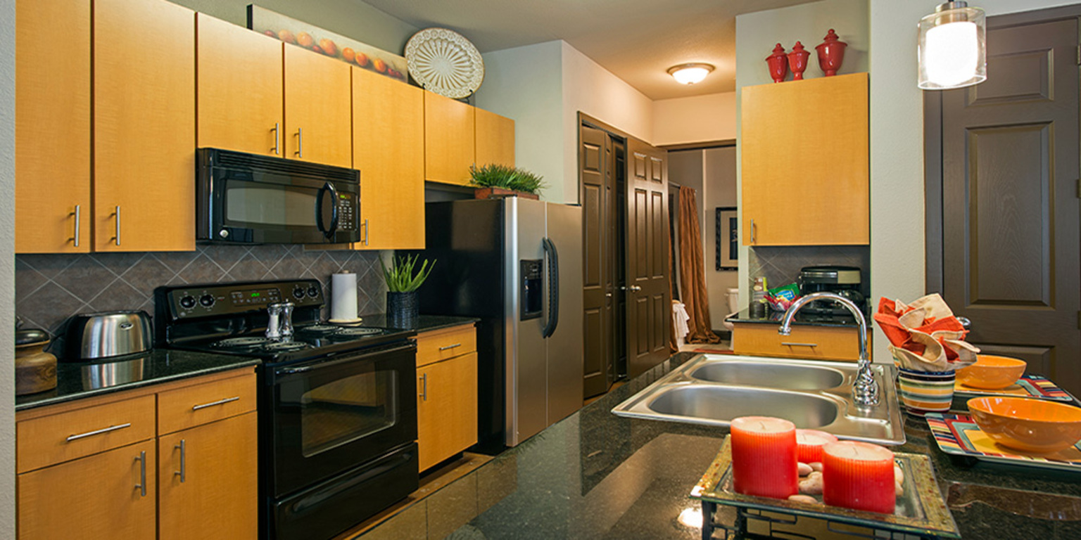 Designer Cabinetry at King's Cove Apartments in Kingwood, Texas