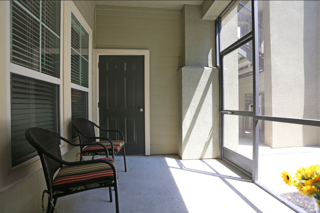 Screened Patios at King's Cove Apartments in Kingwood, Texas