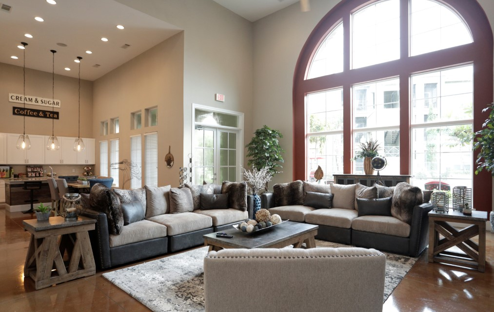 Clubhouse with Kitchen at King's Cove Apartments in Kingwood, Texas