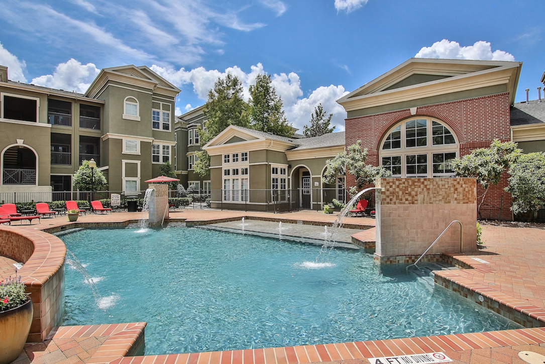 Resort-Style Swimming Pool at King's Cove Apartments in Kingwood, Texas