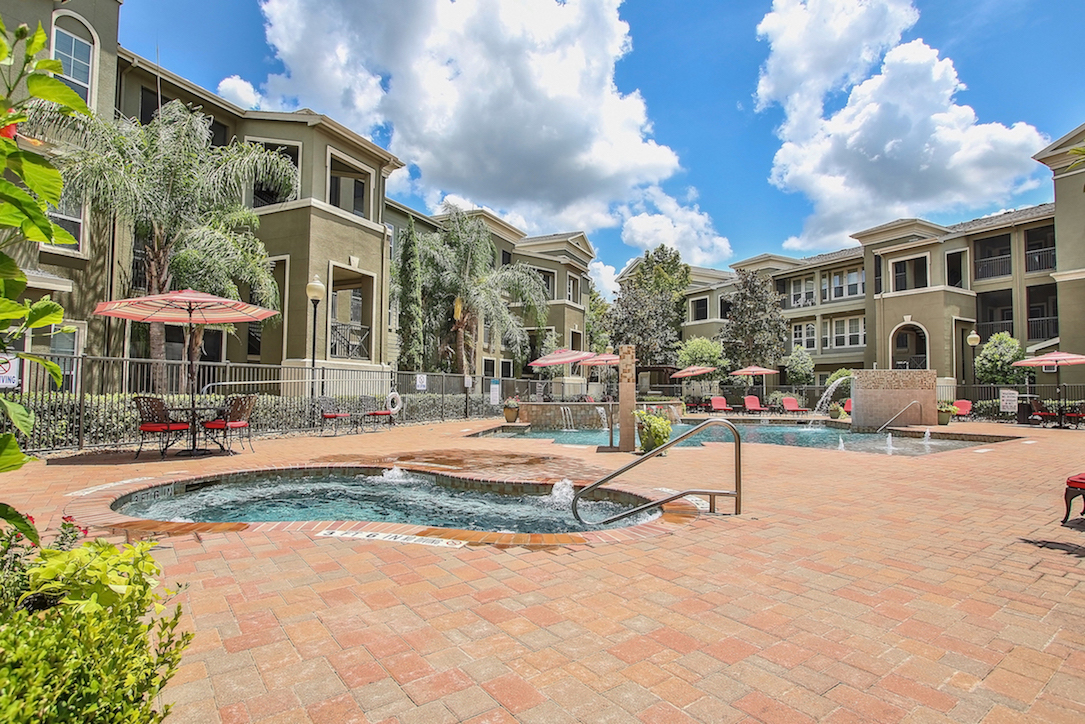 Outdoor Jacuzzi at King's Cove Apartments in Kingwood, Texas