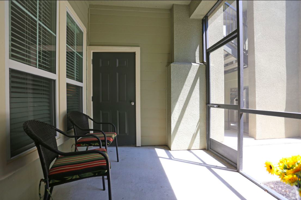 Screen-In Patios or Balconies at King's Cove Apartments in Kingwood, Texas