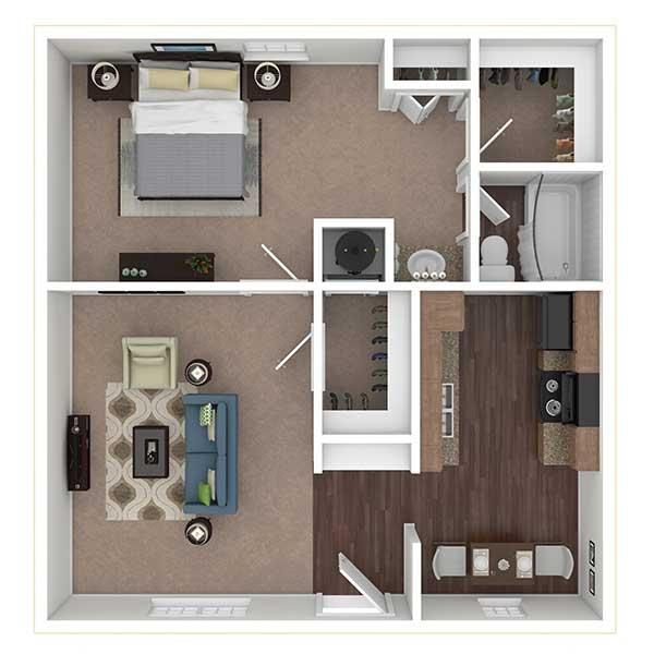 Floorplan - 1x1 image