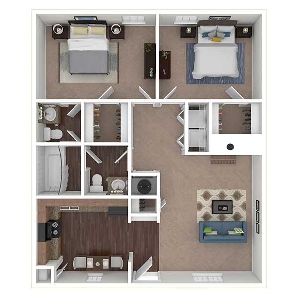 Floorplan - 2x1.5 image