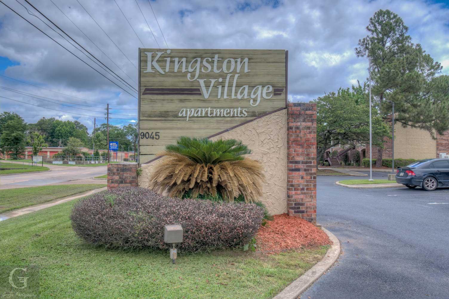 Welcome Signage at Kingston Village Apartments in Shreveport, LA