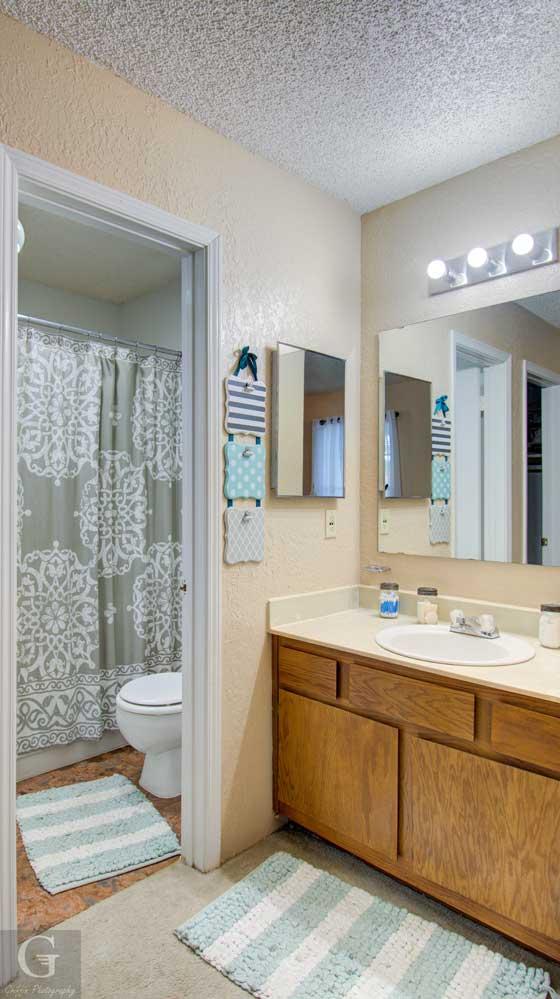 Bathroom at Kingston Village Apartments in Shreveport, LA