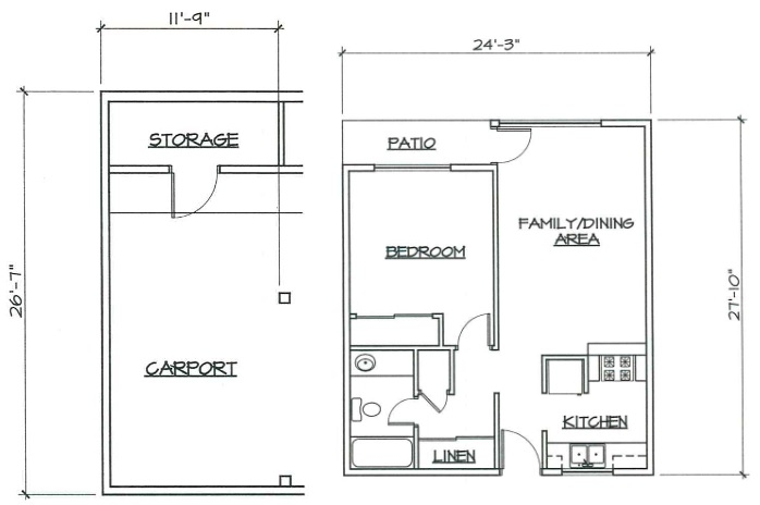 Blk. Mtn. Lofts - Floorplan - 1A