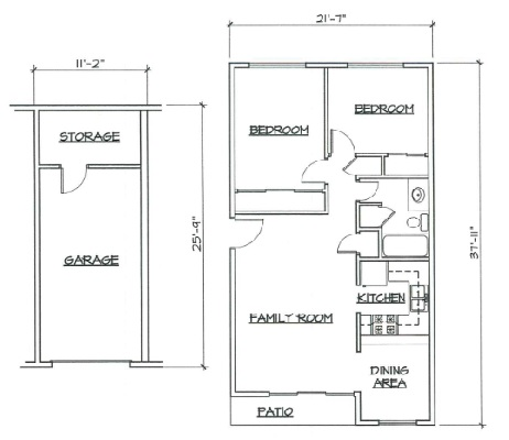Blk. Mtn. Lofts - Floorplan - 2A