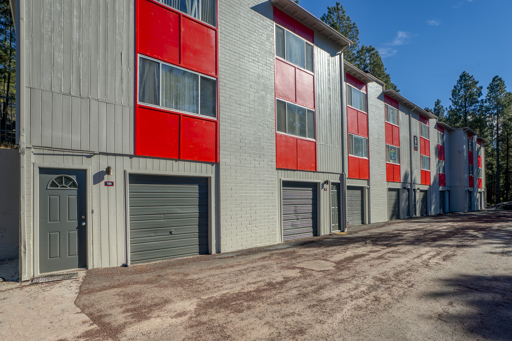 Attached Garages at Blk. Mtn. Lofts Apartments in Flagstaff, Arizona