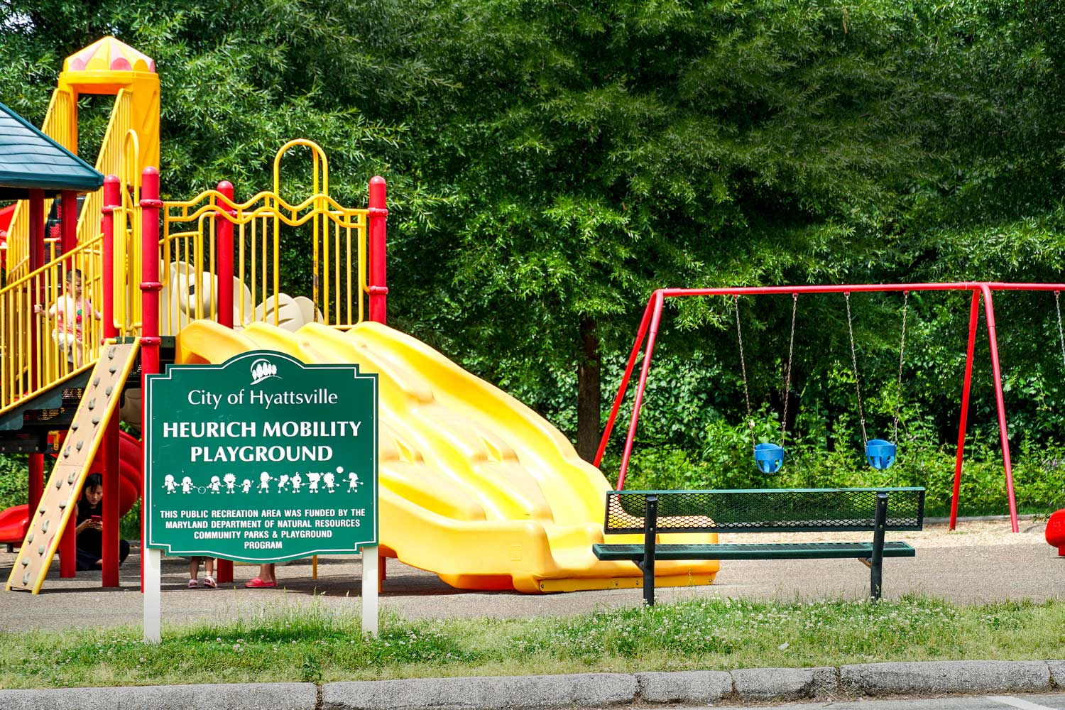 Heurich Park is within walking distance from Kirkwood Apartments in Hyattsville, MD