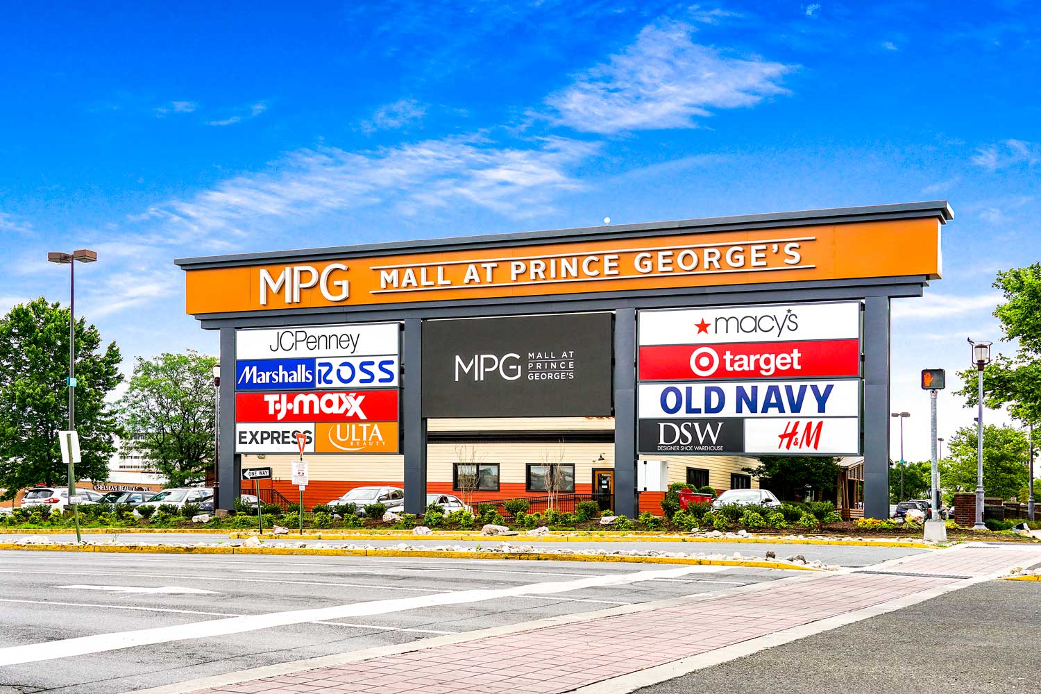 The Mall at Prince George's is 5 minutes from Kirkwood Apartments in Hyattsville, MD