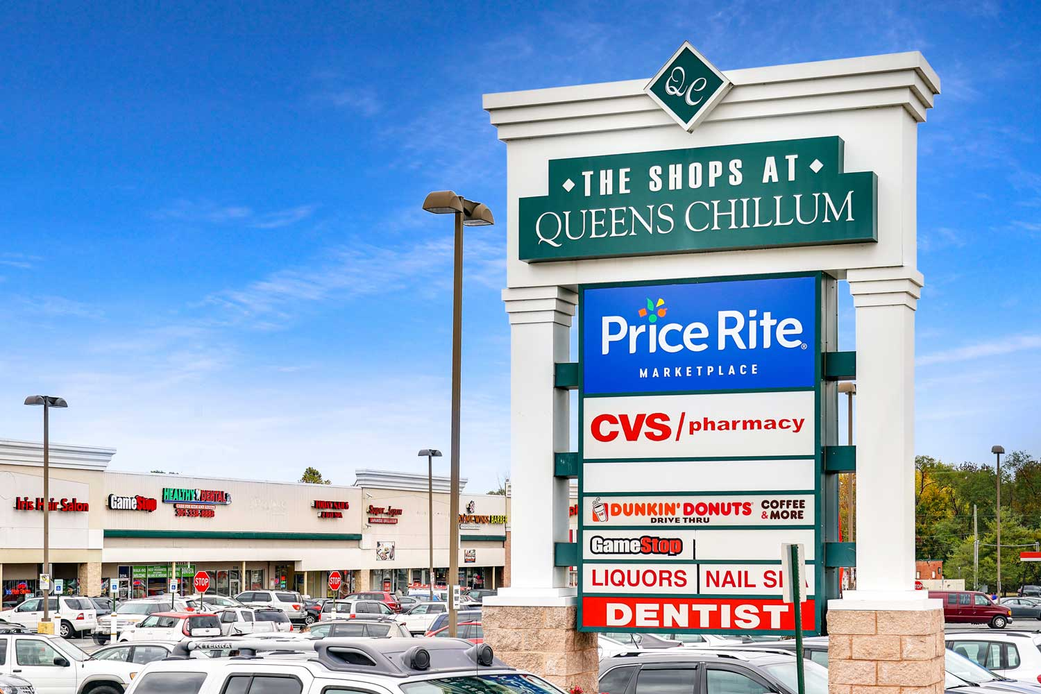 The Shops at Queens Chillum 5 minutes from Kirkwood Apartments in Hyattsville, MD