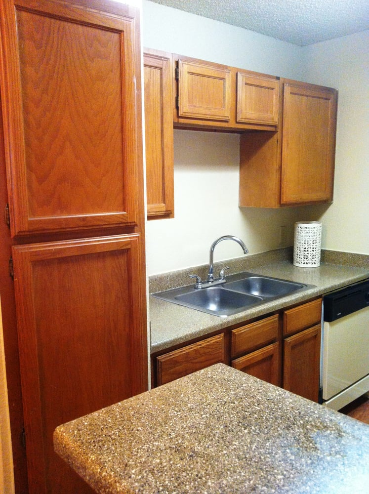 Wood Cabinetry at Lakeland Apartments in Lewisville, Texas