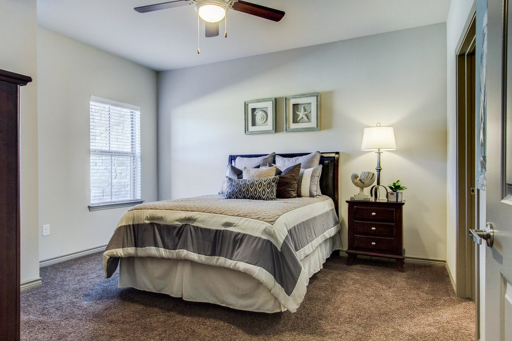 Spacious Bedroom at The Lakeshore Apartment Homes in Lake Dallas, TX